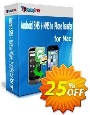Backuptrans Android SMS + MMS to iPhone Transfer for Mac (Family Edition) 優惠券,折扣碼 Holiday Deals,促銷代碼: amazing promo code of Backuptrans Android SMS + MMS to iPhone Transfer for Mac (Family Edition) 2019