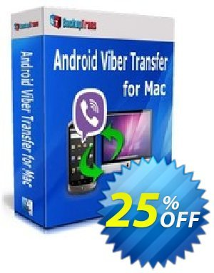 Backuptrans Android Viber Transfer for Mac (Business Edition) Coupon discount Backuptrans Android Viber Transfer for Mac (Business Edition) amazing deals code 2020. Promotion: wonderful sales code of Backuptrans Android Viber Transfer for Mac (Business Edition) 2020