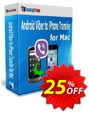 Backuptrans Android Viber to iPhone Transfer for Mac discount coupon Backuptrans Android Viber to iPhone Transfer for Mac (Personal Edition) stirring discounts code 2020 - imposing promo code of Backuptrans Android Viber to iPhone Transfer for Mac (Personal Edition) 2020