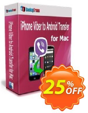 Backuptrans iPhone Viber to Android Transfer for Mac (Personal Edition) discount coupon Backuptrans iPhone Viber to Android Transfer for Mac (Personal Edition) marvelous promo code 2020 - excellent discount code of Backuptrans iPhone Viber to Android Transfer for Mac (Personal Edition) 2020