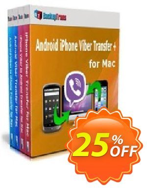 Backuptrans Android iPhone Viber Transfer + for Mac (Family Edition) Coupon discount Holiday Deals - best discount code of Backuptrans Android iPhone Viber Transfer + for Mac (Family Edition) 2019