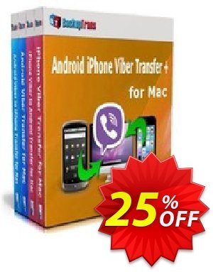 Backuptrans Android iPhone Viber Transfer + for Mac (Business Edition) Coupon discount Holiday Deals - big promo code of Backuptrans Android iPhone Viber Transfer + for Mac (Business Edition) 2020