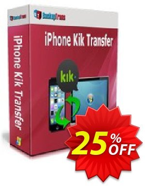 Backuptrans iPhone Kik Transfer discount coupon Backuptrans iPhone Kik Transfer (Personal Edition) amazing promo code 2020 - wonderful discount code of Backuptrans iPhone Kik Transfer (Personal Edition) 2020
