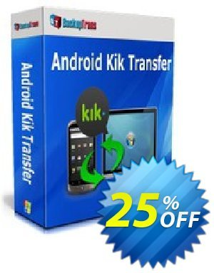 Backuptrans Android Kik Transfer (Personal Edition) Coupon discount Backuptrans Android Kik Transfer (Personal Edition) amazing promotions code 2019 - awful discounts code of Backuptrans Android Kik Transfer (Personal Edition) 2019