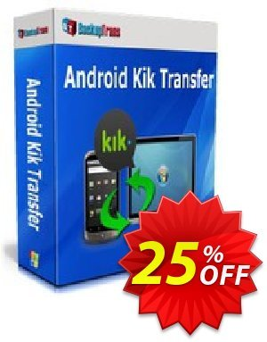 Backuptrans Android Kik Transfer (Business Edition) discount coupon Backuptrans Android Kik Transfer (Business Edition) formidable sales code 2021 - impressive promotions code of Backuptrans Android Kik Transfer (Business Edition) 2021