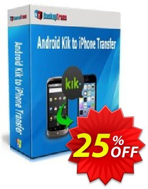 Backuptrans Android Kik to iPhone Transfer discount coupon Backuptrans Android Kik to iPhone Transfer (Personal Edition) imposing discounts code 2021 - staggering promo code of Backuptrans Android Kik to iPhone Transfer (Personal Edition) 2021