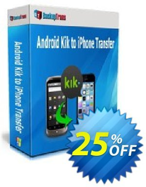 Backuptrans Android Kik to iPhone Transfer (Family Edition) Coupon discount Backuptrans Android Kik to iPhone Transfer (Family Edition) stirring promotions code 2019 - imposing discounts code of Backuptrans Android Kik to iPhone Transfer (Family Edition) 2019