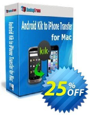 Backuptrans Android Kik to iPhone Transfer for Mac discount coupon Backuptrans Android Kik to iPhone Transfer for Mac (Personal Edition) formidable deals code 2021 - impressive sales code of Backuptrans Android Kik to iPhone Transfer for Mac (Personal Edition) 2021