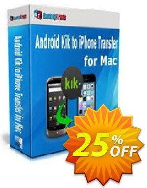 Backuptrans Android Kik to iPhone Transfer for Mac (Family Edition) discount coupon Backuptrans Android Kik to iPhone Transfer for Mac (Family Edition) fearsome offer code 2020 - formidable deals code of Backuptrans Android Kik to iPhone Transfer for Mac (Family Edition) 2020