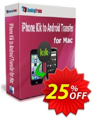 Backuptrans iPhone Kik to Android Transfer for Mac (Personal Edition) Coupon discount Backuptrans iPhone Kik to Android Transfer for Mac (Personal Edition) awful sales code 2019 - wondrous promotions code of Backuptrans iPhone Kik to Android Transfer for Mac (Personal Edition) 2019