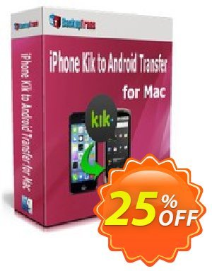 Backuptrans iPhone Kik to Android Transfer for Mac (Family Edition) Coupon discount Backuptrans iPhone Kik to Android Transfer for Mac (Family Edition) amazing offer code 2019 - awful deals code of Backuptrans iPhone Kik to Android Transfer for Mac (Family Edition) 2019