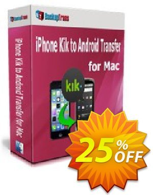 Backuptrans iPhone Kik to Android Transfer for Mac (Business Edition) Coupon discount Backuptrans iPhone Kik to Android Transfer for Mac (Business Edition) super discount code 2020 - amazing offer code of Backuptrans iPhone Kik to Android Transfer for Mac (Business Edition) 2020