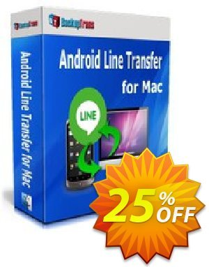 Backuptrans Android Line Transfer for Mac discount coupon Backuptrans Android Line Transfer for Mac (Personal Edition) staggering promo code 2020 - stunning discount code of Backuptrans Android Line Transfer for Mac (Personal Edition) 2020