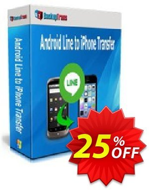 Backuptrans Android Line to iPhone Transfer discount coupon Backuptrans Android Line to iPhone Transfer (Personal Edition) awful discounts code 2020 - wondrous promo code of Backuptrans Android Line to iPhone Transfer (Personal Edition) 2020