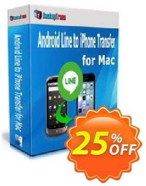 Backuptrans Android Line to iPhone Transfer for Mac discount coupon Backuptrans Android Line to iPhone Transfer for Mac (Personal Edition) super deals code 2020 - amazing sales code of Backuptrans Android Line to iPhone Transfer for Mac (Personal Edition) 2020