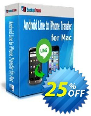 Backuptrans Android Line to iPhone Transfer for Mac (Family Edition) 프로모션 코드 Backuptrans Android Line to iPhone Transfer for Mac (Family Edition) best offer code 2020 프로모션: super deals code of Backuptrans Android Line to iPhone Transfer for Mac (Family Edition) 2020