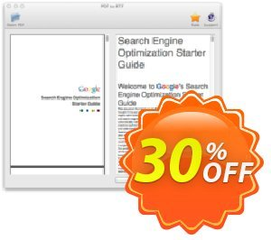 PDF to RTF Converter for Mac 優惠券,折扣碼 PDF to RTF Converter for Mac amazing promo code 2020,促銷代碼: amazing promo code of PDF to RTF Converter for Mac 2020