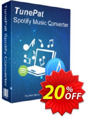 TunePat Spotify Music  Converter for Windows Coupon, discount TunePat Spotify Music  Converter for Windows hottest discounts code 2021. Promotion: hottest discounts code of TunePat Spotify Music  Converter for Windows 2021