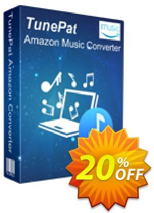 TunePat Amazon Music Converter Coupon, discount TunePat Amazon Music Converter for Windows excellent offer code 2021. Promotion: excellent offer code of TunePat Amazon Music Converter for Windows 2021