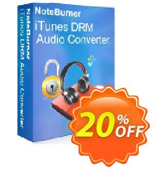 NoteBurner iTunes DRM Audio Converter for Windows Coupon, discount NoteBurner iTunes DRM Audio Converter for Windows awful promotions code 2021. Promotion: awful promotions code of NoteBurner iTunes DRM Audio Converter for Windows 2021