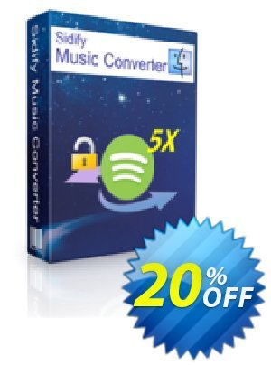 Sidify DRM Audio Converter for Spotify (Mac) Coupon, discount Sidify DRM Audio Converter for Spotify (Mac) awful deals code 2019. Promotion: awful deals code of Sidify DRM Audio Converter for Spotify (Mac) 2019