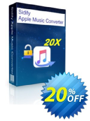 Sidify Apple Music Converter Coupon, discount Sidify Apple Music Converter for Windows wondrous promo code 2021. Promotion: wondrous promo code of Sidify Apple Music Converter for Windows 2021