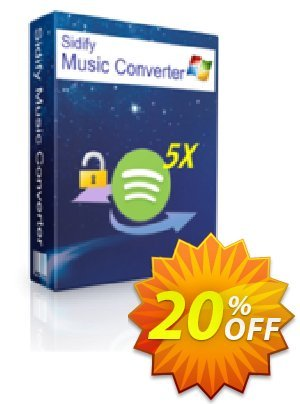 Sidify DRM Audio Converter for Spotify Coupon, discount Sidify DRM Audio Converter for Spotify (Windows) marvelous deals code 2021. Promotion: marvelous deals code of Sidify DRM Audio Converter for Spotify (Windows) 2021