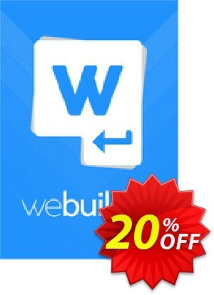 WeBuilder 2018 Coupon, discount WeBuilder 2021 exclusive offer code 2021. Promotion: exclusive offer code of WeBuilder 2021 2021
