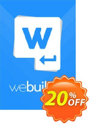 WeBuilder 2018 Personal Coupon, discount WeBuilder 2021 Personal special promo code 2021. Promotion: special promo code of WeBuilder 2021 Personal 2021