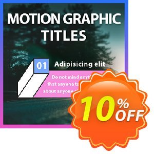 Motion Graphic Titles for PowerDirector discount coupon Motion Graphic Titles for PowerDirector Deal - Motion Graphic Titles for PowerDirector Exclusive offer
