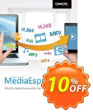 CyberLink MediaEspresso Coupon discount 10% OFF CyberLink MediaEspresso Jan 2020. Promotion: Amazing discounts code of CyberLink MediaEspresso, tested in January 2020