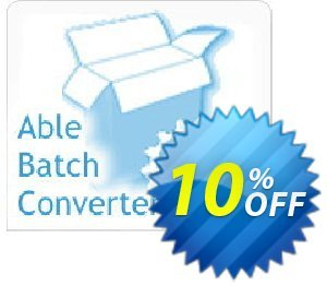 Able Batch Converter (Site License) Coupon, discount Able Batch Converter (Site License) Best discount code 2020. Promotion: super offer code of Able Batch Converter (Site License) 2020