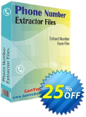 LantechSoft Phone Number Extractor Files Coupon, discount Christmas Offer. Promotion: amazing promo code of Phone Number Extractor Files 2020