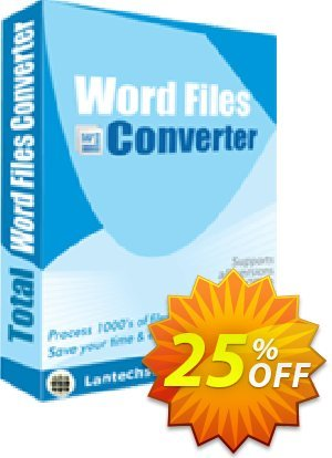 LantechSoft Total Word Files Converter Coupon, discount Christmas Offer. Promotion: wonderful promotions code of Total Word Files Converter 2020