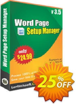 LantechSoft Word Page Setup Manager 優惠券,折扣碼 Christmas Offer,促銷代碼: stunning deals code of Word Page Setup Manager 2020