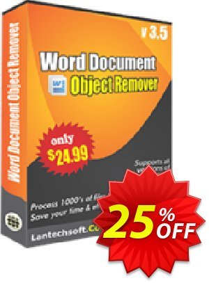 LantechSoft Word Document Object Remover Coupon, discount Christmas Offer. Promotion: staggering offer code of Word Document Object Remover 2020