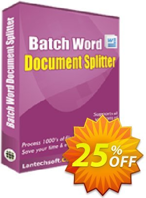 LantechSoft Batch Word Document Splitter Coupon, discount Christmas Offer. Promotion: dreaded discount code of Batch Word Document Splitter 2020