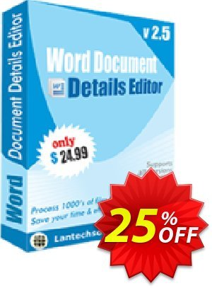 LantechSoft Word Document Details Editor Coupon, discount Christmas Offer. Promotion: big deals code of Word Document Details Editor 2020