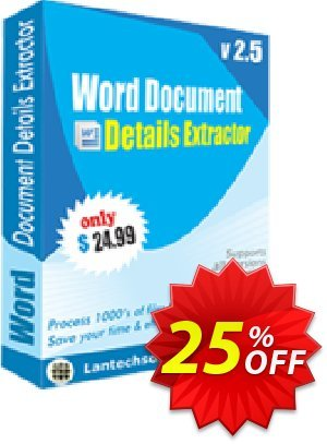 Word Document Details Extractor 프로모션 코드 10%OFF 프로모션: hottest offer code of Word Document Details Extractor 2019