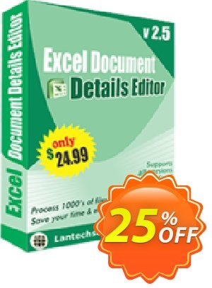 LantechSoft Excel Document Details Editor Coupon discount Christmas Offer. Promotion: big sales code of Excel Document Details Editor 2020