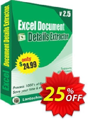 LantechSoft Excel Document Details Extractor Coupon, discount Christmas Offer. Promotion: amazing promotions code of Excel Document Details Extractor 2020