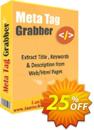 LantechSoft Meta Tag Grabber Coupon discount Christmas Offer. Promotion: hottest deals code of Meta Tag Grabber 2020