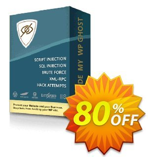 Hide My WP Ghost - Unlimited Websites Coupon, discount 70% Discount - Unlimited Websites. Promotion: stunning discount code of Hide My WP Ghost - Unlimited Websites 2019
