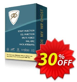 Hide My WP Ghost - 1 Website discount coupon 30% Discount - 1 Website - stirring deals code of Hide My WP Ghost - 1 Website 2020