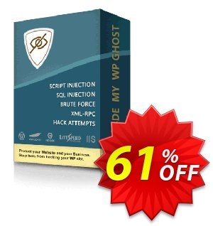 Hide My WP Ghost - 5 Websites Coupon, discount 60% Discount - 5 Websites. Promotion: amazing promotions code of Hide My WP Ghost - 5 Websites 2021