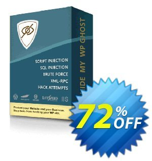 Hide My WP Ghost - 10 Websites Coupon, discount 70% Discount - 10 Websites. Promotion: wondrous deals code of Hide My WP Ghost - 10 Websites 2019
