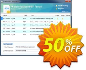 Wonderfulshare PDF Protect Coupon, discount Wonderfulshare PDF Protect awful offer code 2019. Promotion: awful offer code of Wonderfulshare PDF Protect 2019