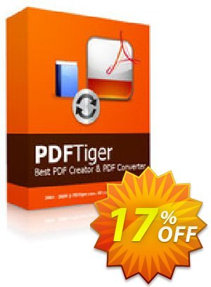 Reezaa PDFTiger Coupon, discount discount15. Promotion: best deals code of PDFTiger 2020