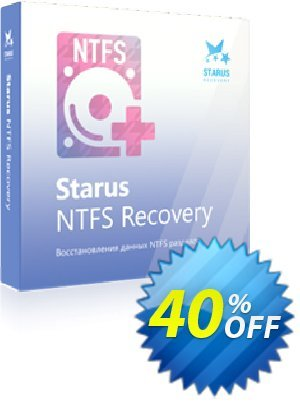 Starus NTFS Recovery Coupon, discount Starus NTFS Recovery stunning sales code 2020. Promotion: stunning sales code of Starus NTFS Recovery 2020