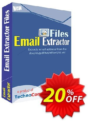 Email Extractor Files Coupon, discount Christmas OFF. Promotion: marvelous offer code of Email Extractor Files 2021